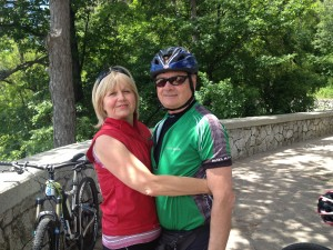 Gabrijela and Igor Spacapan, our friends in Slovenia. They will lead the cyclists.